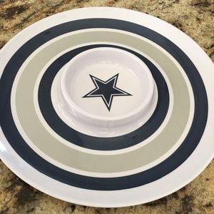"Dallas Cowboys NFL 14"" Round Melamine Chip Bowls"